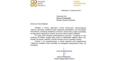 List otwarty Koalicji dla edukacji doministra Dariusza Piontkowskiego